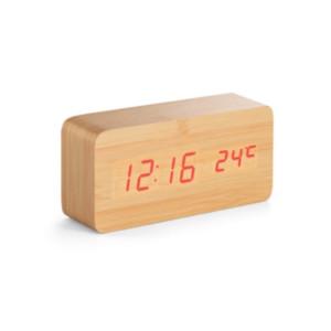 O pai que gosta de cuidar do meio ambiente vai amar o relógio digital feito de material ecologicamente correto, perfeito como presente de Dia dos Pais